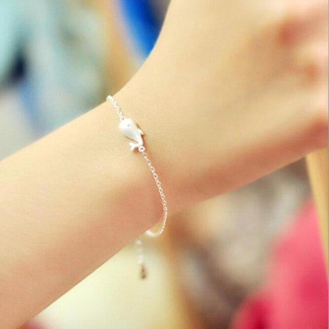 Women's 925 Sterling Silver Whale Bracelet 2