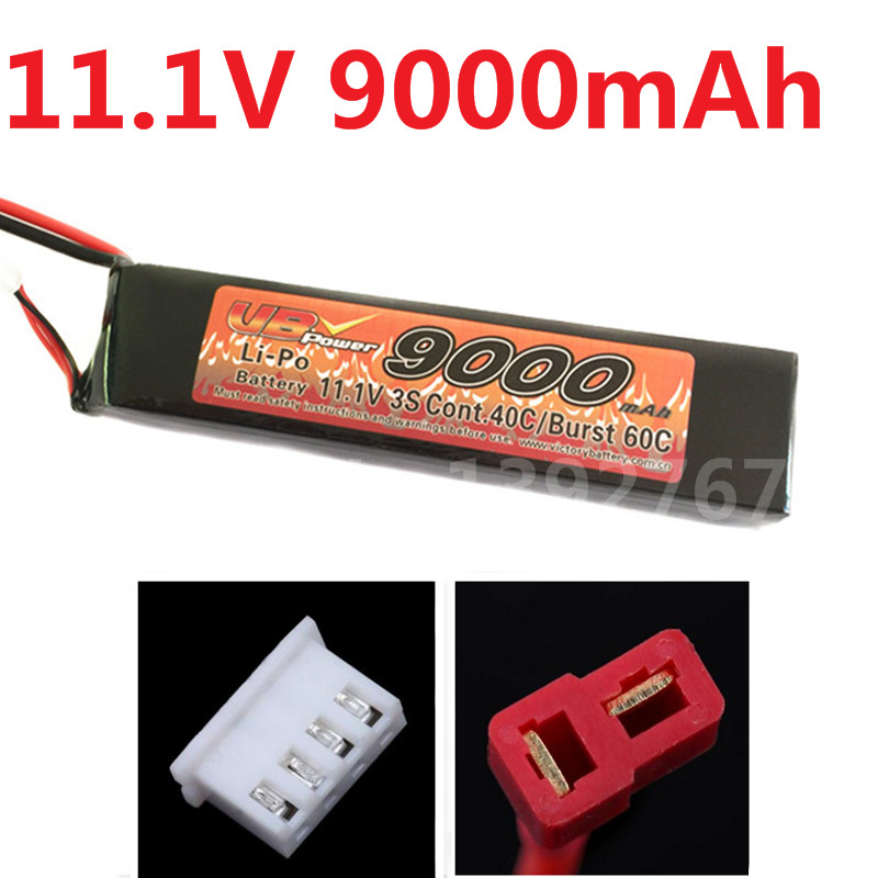 VB Power 3S 11.1V 9000MAH Lipo Battery Li-Po Pack Cont.40C/Burst 60C For RC Boats Plane Airplane Tank Recharge Battery image
