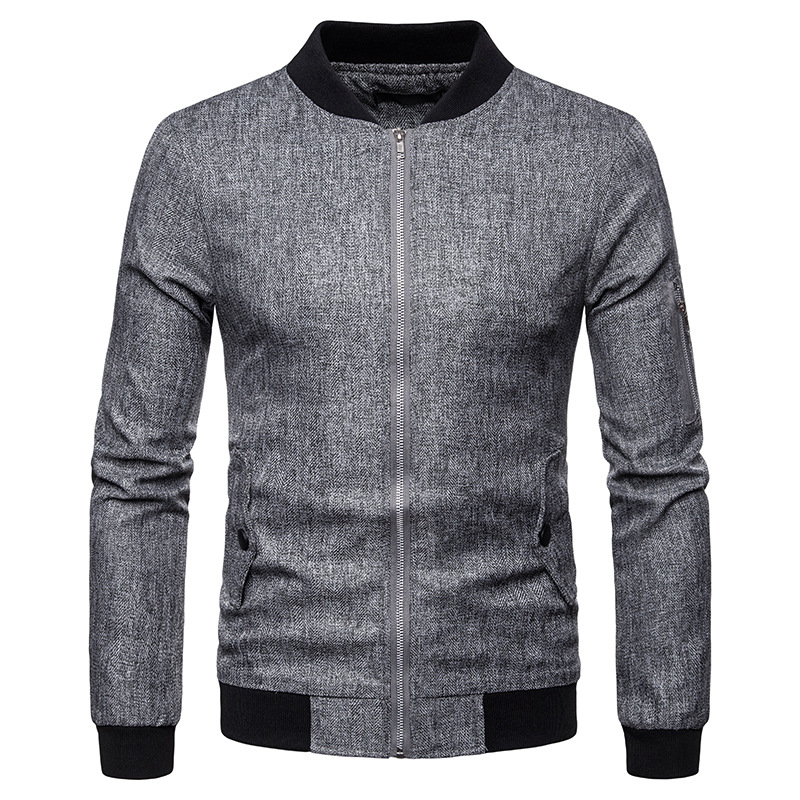 Hipster Linen Baseball Jacket Men 2019 High Quality Bomber Mens Jackets Slim Fit Stand Collar Casual Coats Male