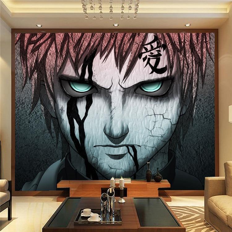 Japanese Anime Naruto Photo Wallpaper Gaara Wall Mural Custom Wallpaper Art Room Decor Large Wall Art Children's Room Bedroom