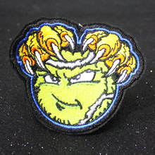 Pulaqi Punk Biker Patch Embroidered Patches For Clothing Iron On Clothes Rock DIY Badges Accessories F