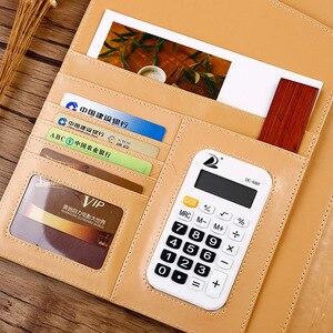 Image 3 - A4 Padfolio רב תכליתי עסקי תיקיית עבור מסמך Pu קובץ מנהל מחזיק משרד ארגונית עם מחשבון לא קלסר פאוץ