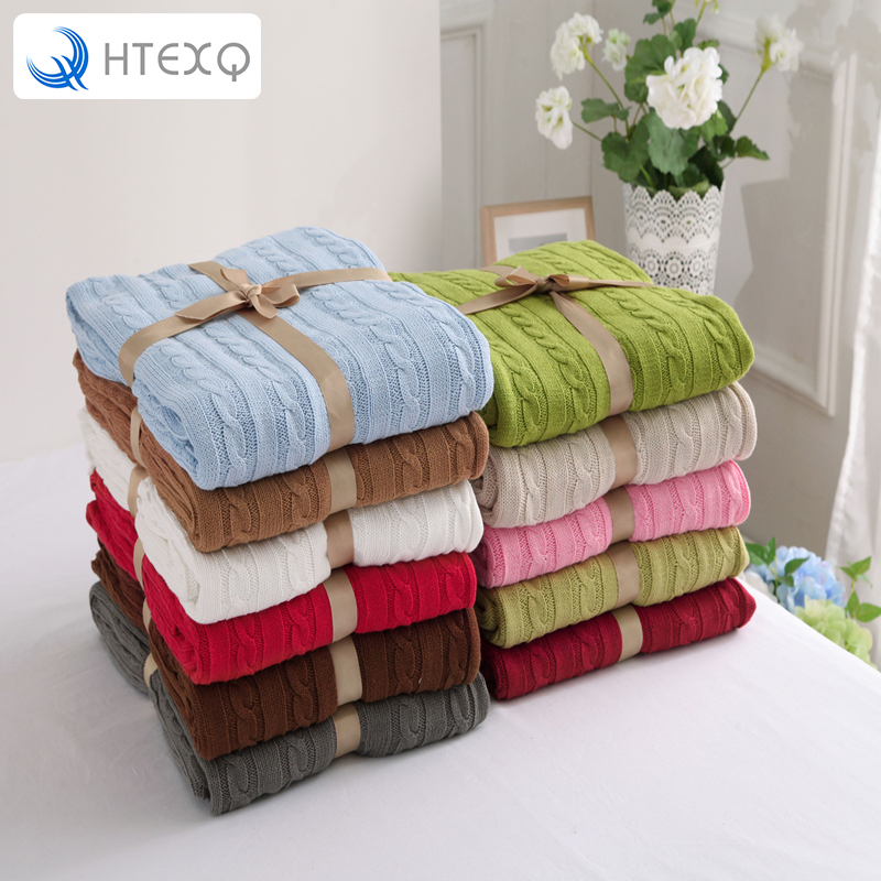 ФОТО New 2016 Throw Blanket --1PC 100% Cotton Knitted Blanket Adult Blanket Spring/Autumn Sofa Blanket  180*200cm