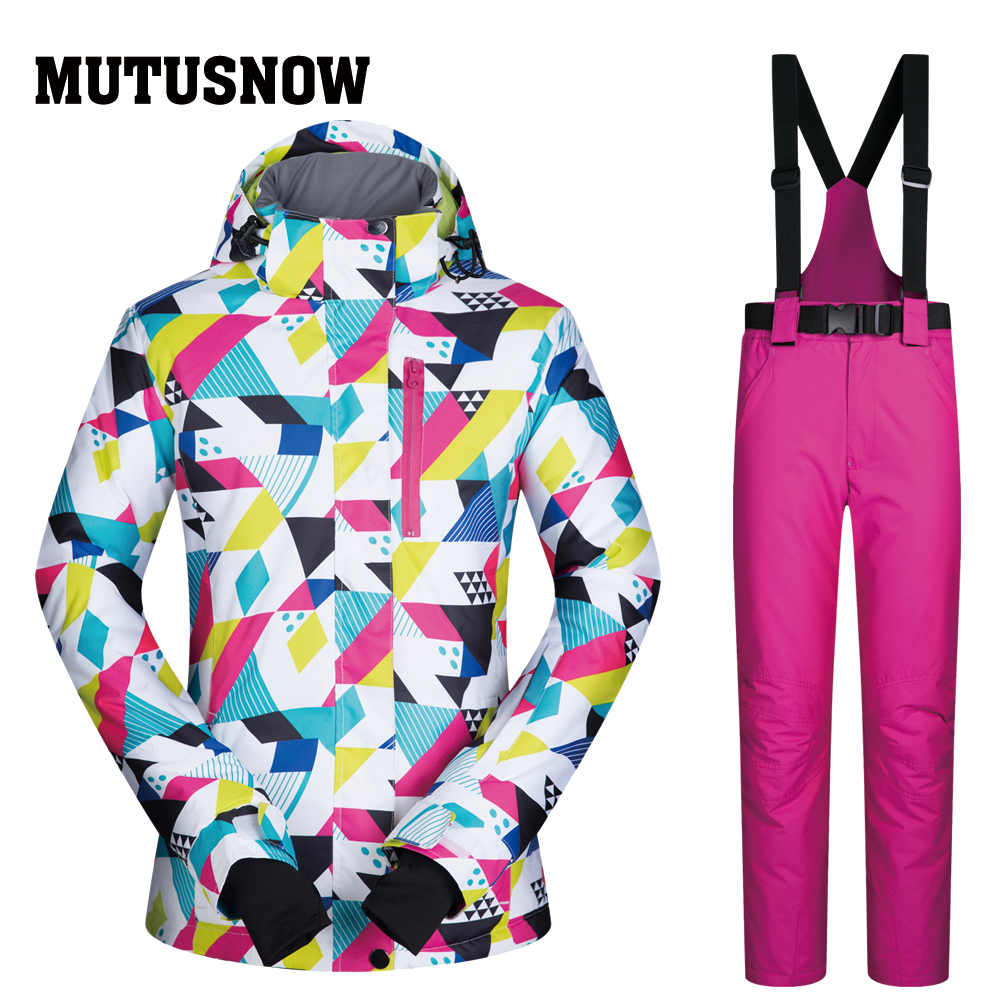 Women Ski Suit 2019 New High Quality Set Windproof Waterproof Warmth CSJ Jackets And Pants Winter Snow Skiing Snowboarding SuitsWomen Ski Suit 2019 New High Quality Set Windproof Waterproof Warmth CSJ Jackets And Pants Winter Snow Skiing Snowboarding Suits