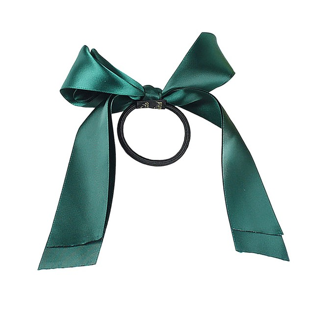 Women Lady Ribbon Bow Rope Scrunchie Satin Ponytail Holder Hair Band Accessory hair bands for women