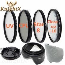 KnightX 49 мм 52 мм 55 мм 58 мм 62 мм 67 мм УФ FLD CPL Звезда ND Закрыть объектива Фильтр для Sony Nikon Canon EOS 1100D 1000D 600D 550D