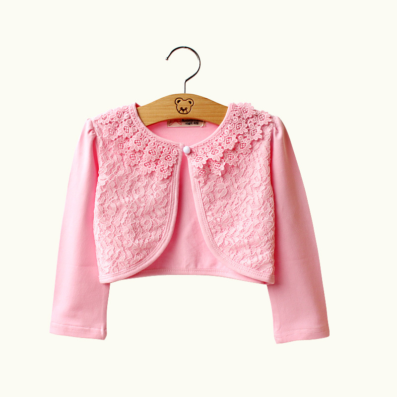 5162eed16 New Arrival Baby Girls Bolero Children Cotton Lace Short Jacket ...