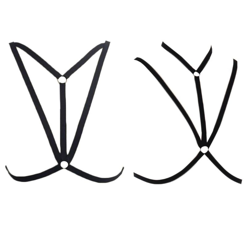 Womens Adjustable Spaghetti Strap Bandage Cage Bra Erotic Hollow Open Cup Lingerie Bustier Criss Cross Strappy Harness Crop Top