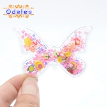 12Pcs Mix Colored Transparent Butterfly Sequins Flowing Appliques DIY Accessories Craft Handmade Decoration