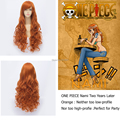 ONE PIECE Nami long Curly orange wig women free shipping anime Cosplay Wig Party+Free Wig Cap