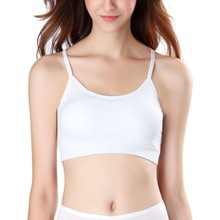 6a1200e99 Women Sport Bra Gym Running Crop Tops Black White Padded Criss Cross Back  Yoga Bra Breathable
