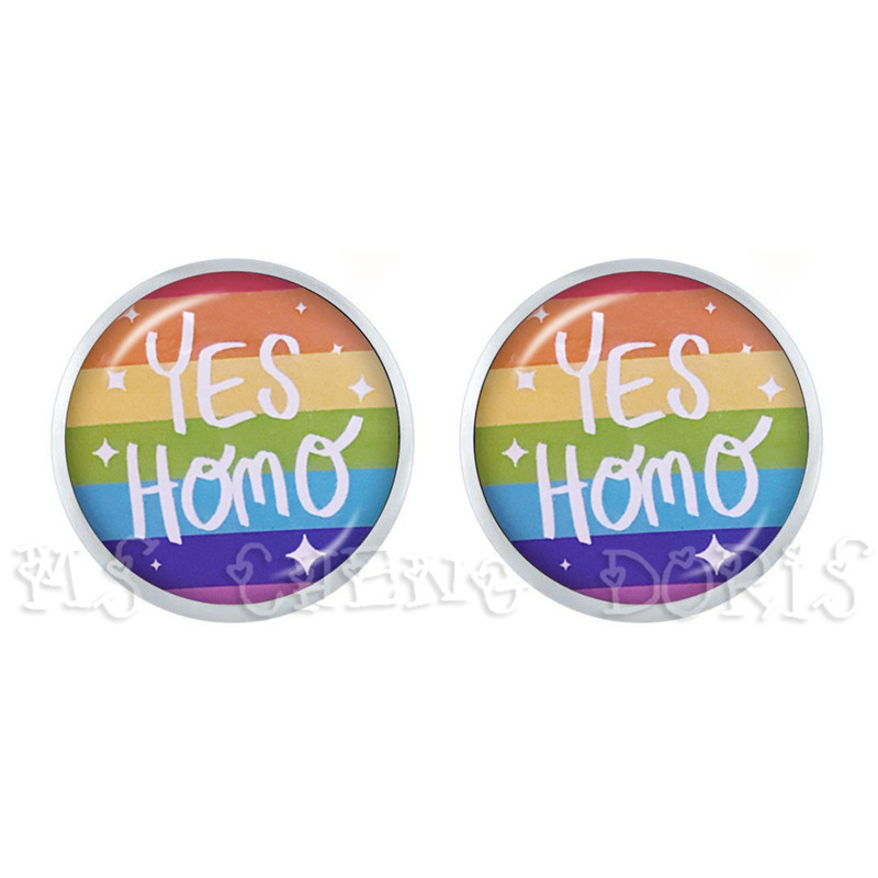 2019 Gay Pride Stud Earring Same Sex LGBT Jewelry Gay Lesbian Pride With Rainbow Love Wins Gift Same Sex Marriage Equal Marriage