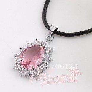 novelty Jewelry Pendants Exquisite fashion necklace crystal waterDrop pendant 50PCS mix order hotsale