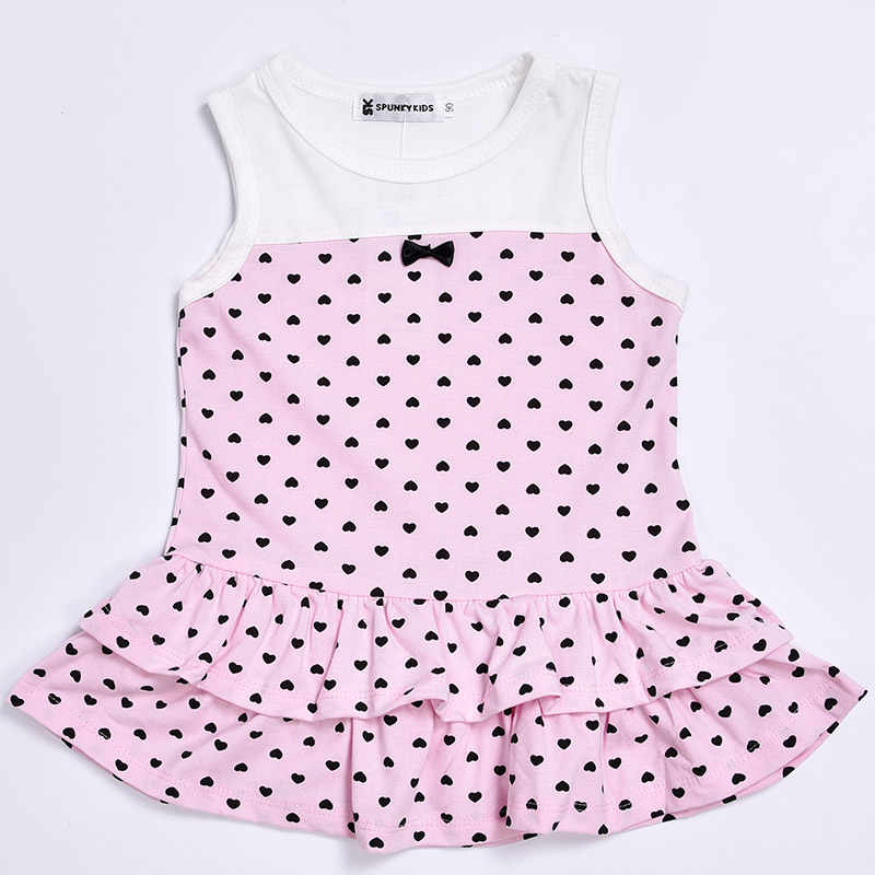 69cdc728fb ... New 2019 summer baby girl dress Cute sleeveless dress with small heart+  short cardigan 2  ...