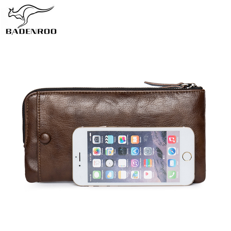 Badenroo Brand Leather Men Wallet Male Clutch Coin Purse New Phone Walet Portomonee Portfolio Clamp For Money Handy Long Fashion