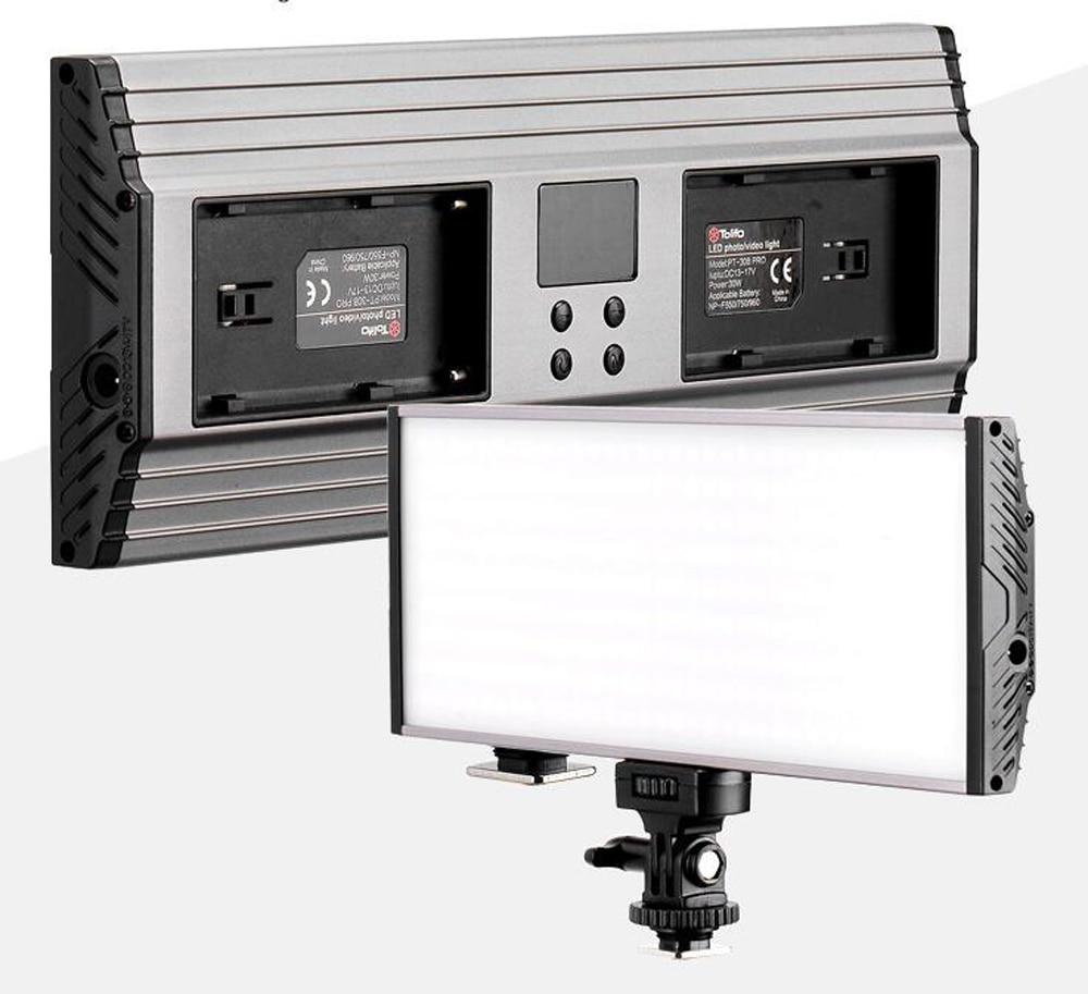 30W Metal LCD Display Bi-Color & Dimmable Slim DSLR Video LED Light Panel + Handle for Canon Nikon Camera DV Camcorder mixpad 10 professional ra95 led camera video light 3200k 5600k led photo lighting for canon nikon sony dslr camera dv camcorder