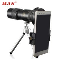 10 30X30 Monocular Telescope BAK4 Prism Central focus With Telescope Tripod and Phone clip for Watching