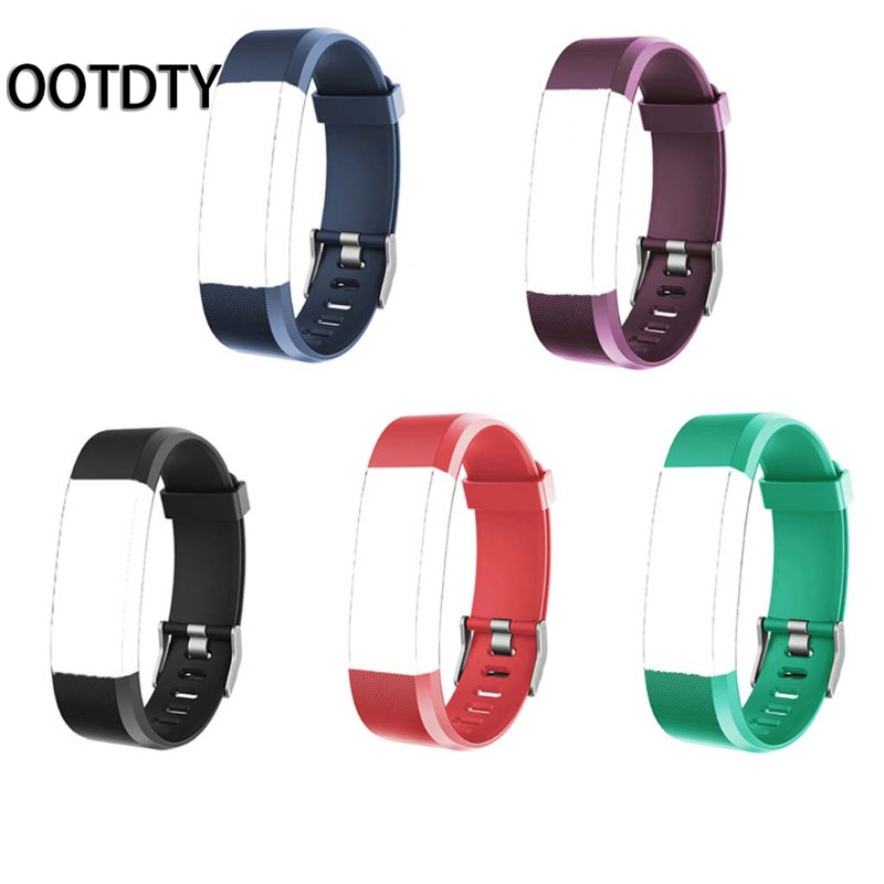 OOTDTY Smart Wristband Strap Replacement Silicone Watchband Smart Watch Bracelet for ID115 Plus