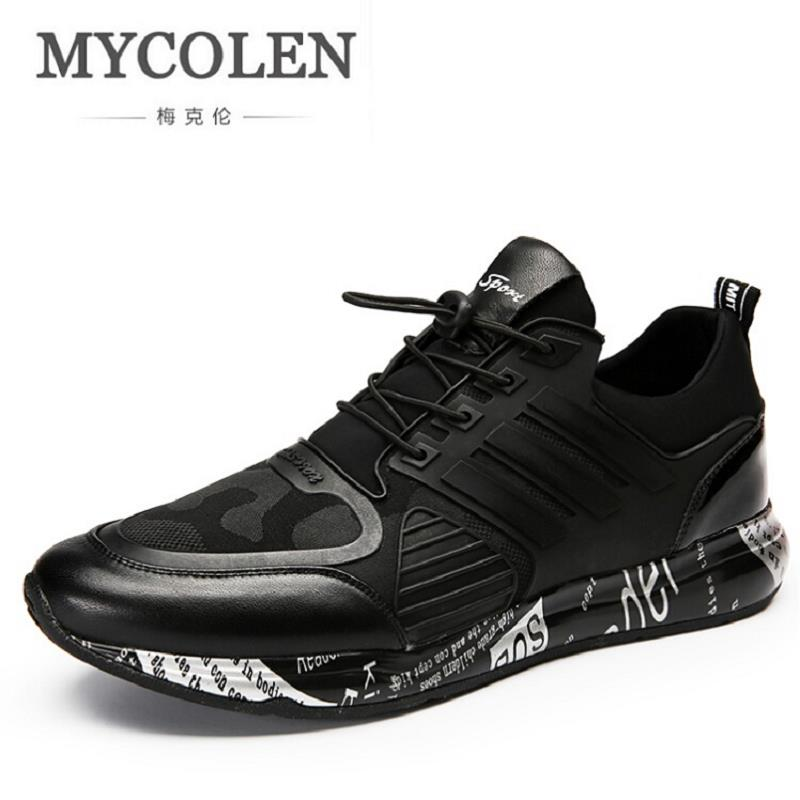 MYCOLEN New Autumn Fashion Casual Shoes Men Fashion Sneakers Winter Shoes Men's Male Brand Shoes Footwear zapato hombre piel mycolen new autumn winter men black casual shoes men high tops fashion hip hop shoes zapatos de hombre leisure male botas