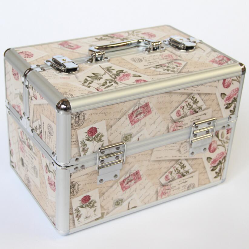 Καυτή πώληση πολλαπλών χρωμάτων μακιγιάζ διοργανωτής, μακιγιάζ αποθήκευσης βαλίτσα κουτί, γυναικεία κοσμήματα κουτί μεγάλα δοχεία, διοργανωτής για καλλυντικά