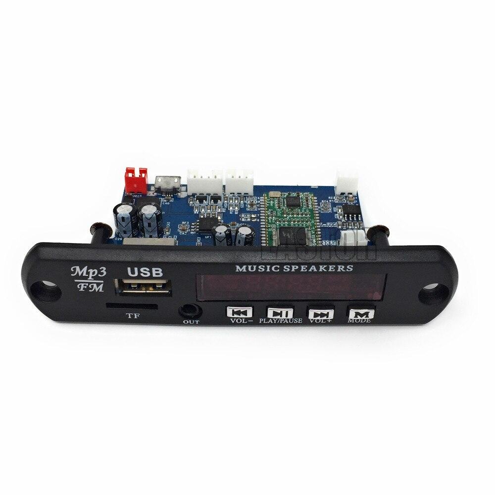 5 V/12 V Contrôle APP Bluetooth 4.0 MP3 Décodage Conseil Module TF Carte USB FM APE FLAC Décodeur Conseil Numérique Rouge LED