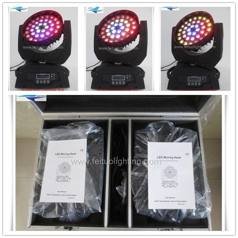 T-8pcs+case circle control 36X15W rgbwa 5 in 1 DMX led zoom moving head Light for Wedding Christmas Birthday DJ Disco light