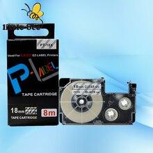 Livraison gratuite 5 pièces compatible Noir sur Clair XR 18X1 18mm rubans détiquettes pour EZ imprimantes détiquettes