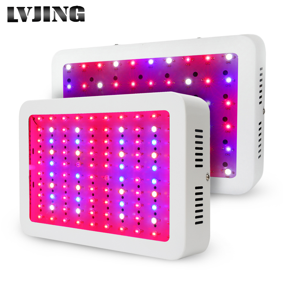 Double Chips Newest 300W 1000W LED Grow Light Full Spectrum For Indoor Plants and Flower Phrase with Very High Yield russian phrase book