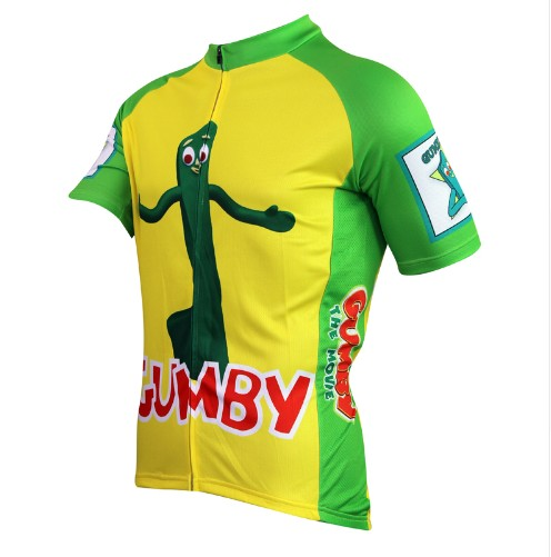 38ba6b4a2 2016 new men s ropa ciclismo Gumby cycling jersey yellow cartoon bike jersey  cute ride apparel green funny cycle clothing-in Cycling Jerseys from Sports  ...