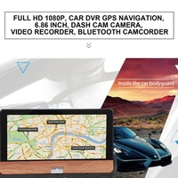 Full HD 1080P Car DVR GPS Navigation 6.86 inch Dash Cam Camera 120 Degree Video Recorder Bluetooth Camcorder for Android