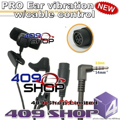 Behind-the-head style headset + Mini Din Plug 44-Y FT-50 FT-60R VXF-1 VX-1R VX-2R VX-3R VX-5R VX-8GR SCONOV YAESU HUITONG
