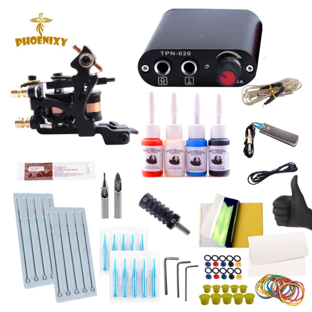цена на Tattoo supplies cheap permanent makeup gun kit professional tattoo machine kit body art steel body piercing tool