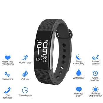 SunKinFon SF2 Smart Band Waterproof Smart Bracelet Heart Rate Monitor SMS Whatsapp Nofitication Smart Wristband for iPhone IOS
