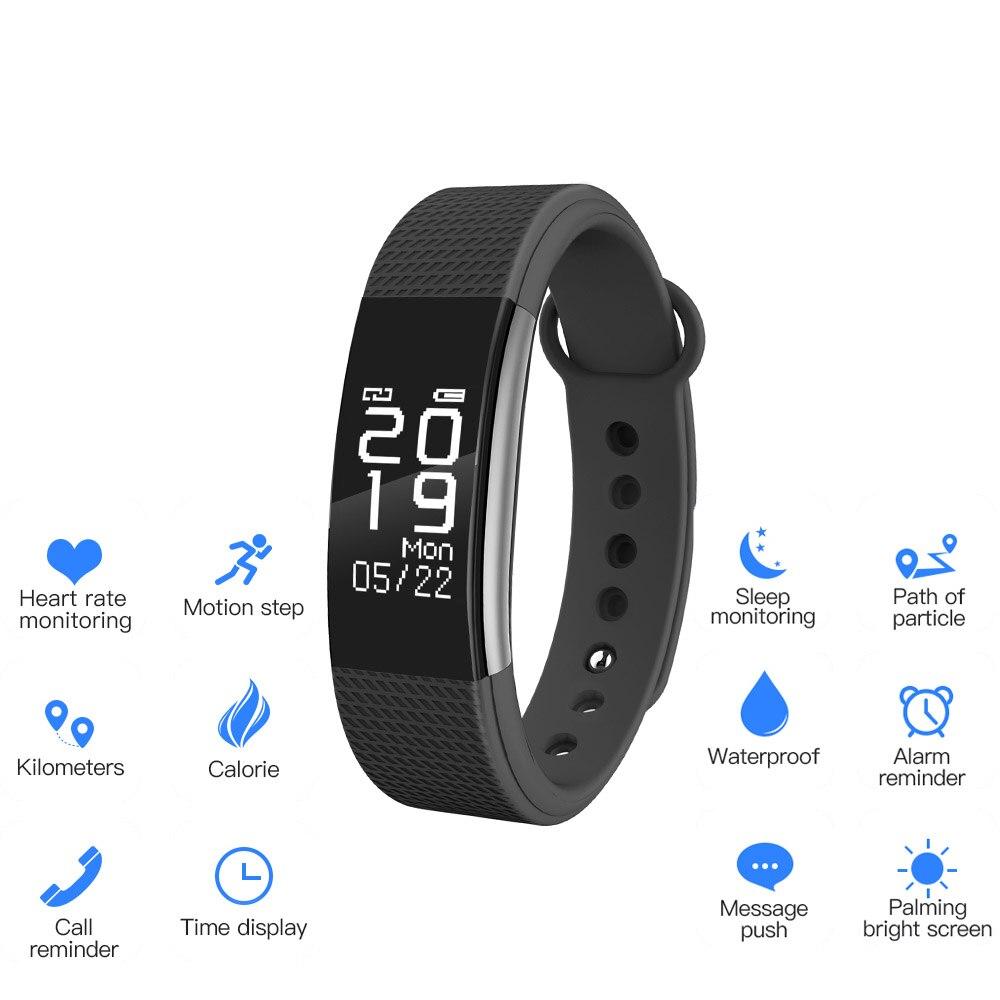 SunKinFon SF2 bande intelligente étanche Bracelet intelligent moniteur de fréquence cardiaque SMS Whatsapp Nofitication Bracelet intelligent pour iPhone IOS
