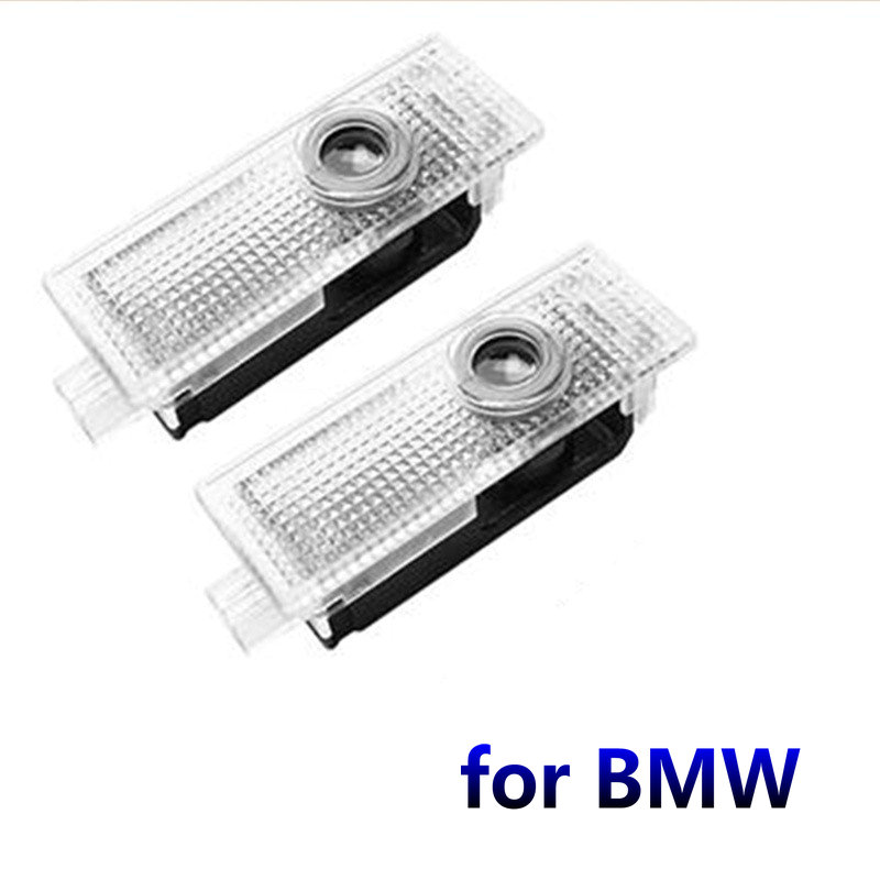 2X Car Led Door Welcome Light Projector Logo Door Light For BMW E90 E91 E92 M3 E60 E60 E61 F10 F15 F48 X1 X5 E70 X3 X6 E65 E66