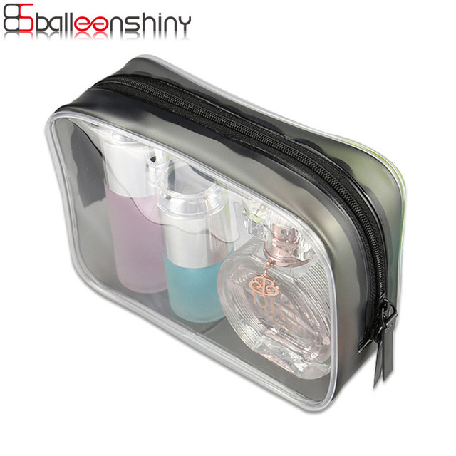 BalleenShiny Cosmetic Pouch Travel Portable Waterproof Toiletry Storage Bag Makeup Organizer