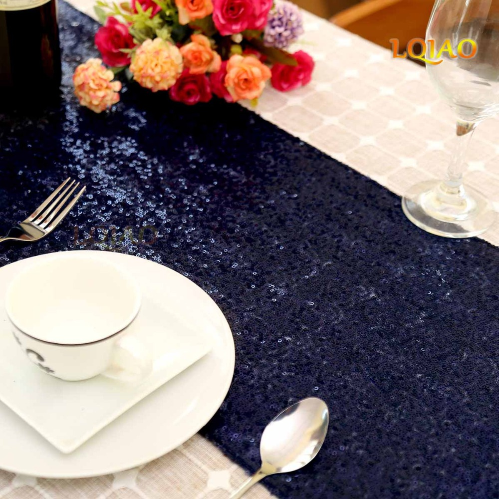"""12/""""x108/"""" GLITTER SEQUIN TABLE RUNNER Ivory Sparkly Wedding Party Christmas Decor"""