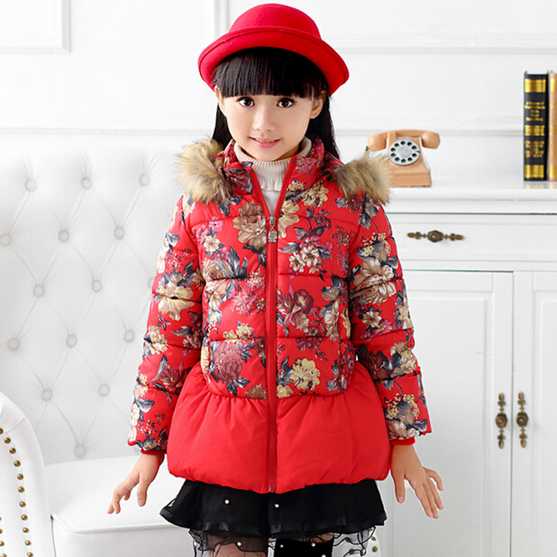 Winter Clothes Child Down Clothing Kids Girl Outerwear & Coats Casual Hoodies Jackets Parkas Baby Girls Cute Jacket Wear