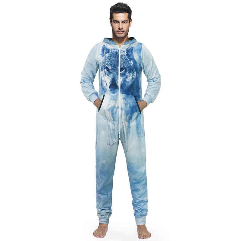 dd19e69c ... Повседневное спортивный комбинезон мужской комбинезон с длинным рукавом  Onesie свитер для сна толстовки Повседневные длинные брюки ...
