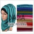 10 шт./лот мусульманин макси хиджаб twill пашмины шарф обычная свадьба пашмины шали мода кисточкой платок обертывания исламские платки