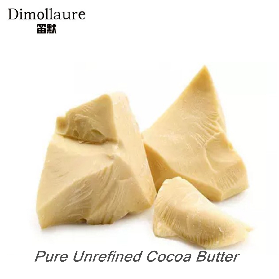 Dimollaure 50g Unrefined Cocoa Butter Raw Pure Cocoa Butter Base Oil Food Grade Natural ORGANIC Essential Oil skin care DIY original 1kg natural cocoa butter chocolate raw unrefined special incense 100