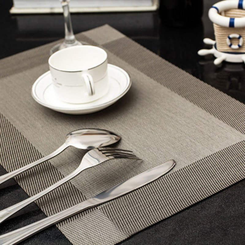 4 Pcs lot Placemat PVC Dining Table Mat Disc Pads Bowl Pad Coasters Waterproof Table Slip