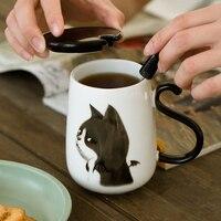 500ミリリットルセラミック素敵な猫コーヒー茶マグカップ磁器オフィスかわいい飲料マグ恋人ギフトミルクカップ食器カップル愛マグカップ