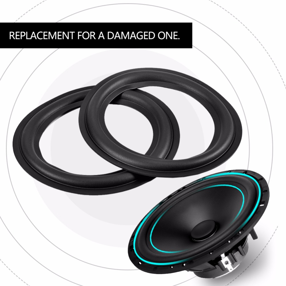 2pcs 6 Inch / 156mm Perforated Rubber Edge Surround Speaker Repair Parts Replacement Black 2018 New Style