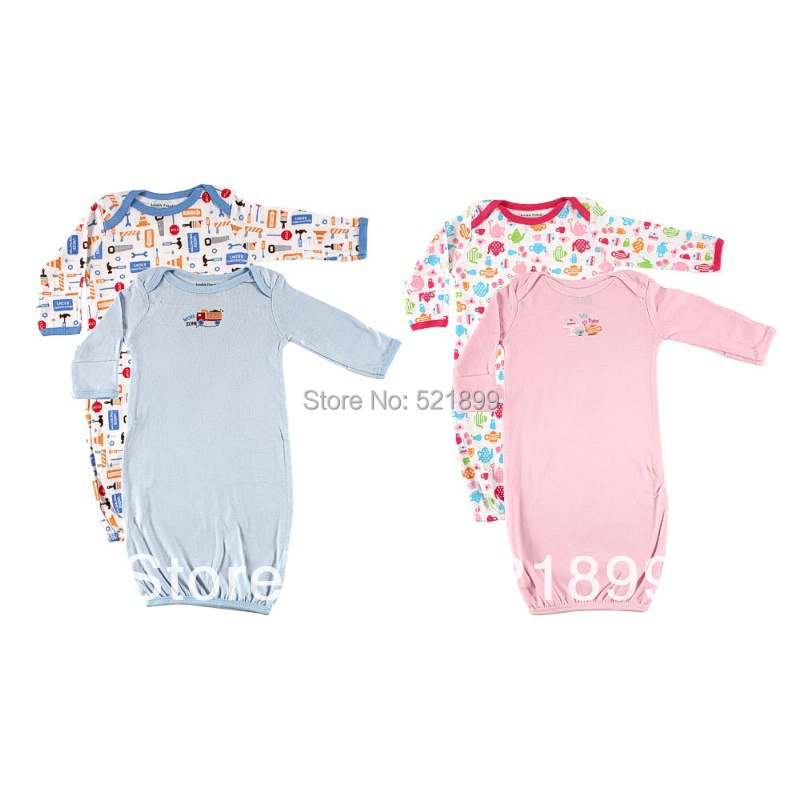 Hot sale Luvable Friends baby blanket sleepers,baby Sleeping Gowns,pajamas Clothes0-3m,3-6 months,Free Shipping