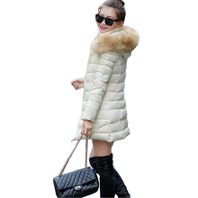 Woman coat. 2016 New Nagymaros collar fashion warm winter coat jacket and long sections thick women's winter coats