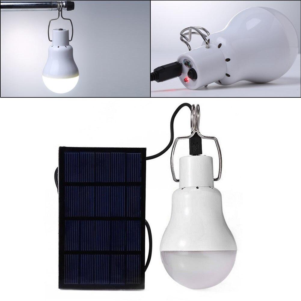 Neue 15 watt 130lm Solar Energie Laden LED Glühbirne Energie Conservation Tragbare Led-lampe Licht Energie Lampe Hause Im Freien beleuchtung