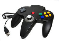 Black USB N 64 Game Gamepad Video Game Wired Controller Joypad Joystick For PC Mac N64