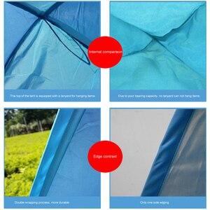 Image 4 - Bãi Biển Lều Bật Lên Tự Động Mở Lều Họ Siêu Nhẹ Gấp Lều Du Lịch Cá Cắm Trại Chống Tia UV Hoàn Toàn Che Ánh Sáng Mặt Trời 2 5 Người