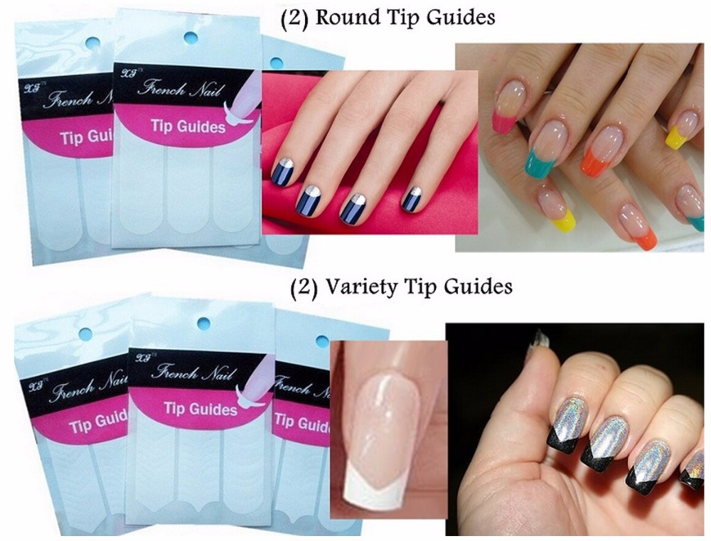 Aliexpress 1 X Hot Selling French Manicure Nail Art 18 Style Guide Sticker Diy Stencil Tip Form Fringe Nails Decal Decorations Lafj0118 From